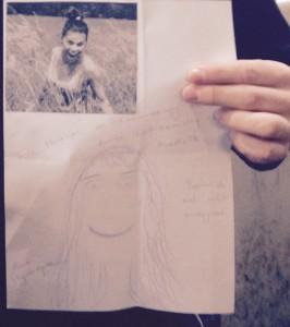 Zeichnung von Aline für Melvin