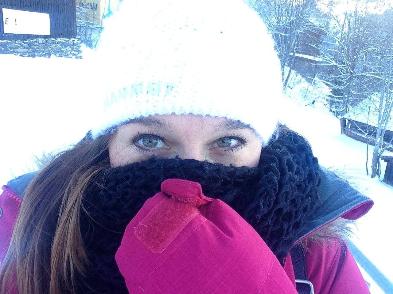 Eisige Kälte am ersten Tag
